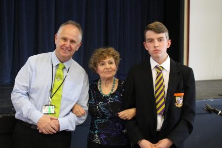 P Morris, Janine Webber and a School Ambassador